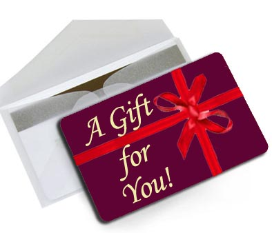 gift card on top of envelope